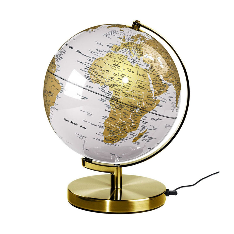 "Wild & Wolf Globe Light 10"" , Arctic White-Brass"