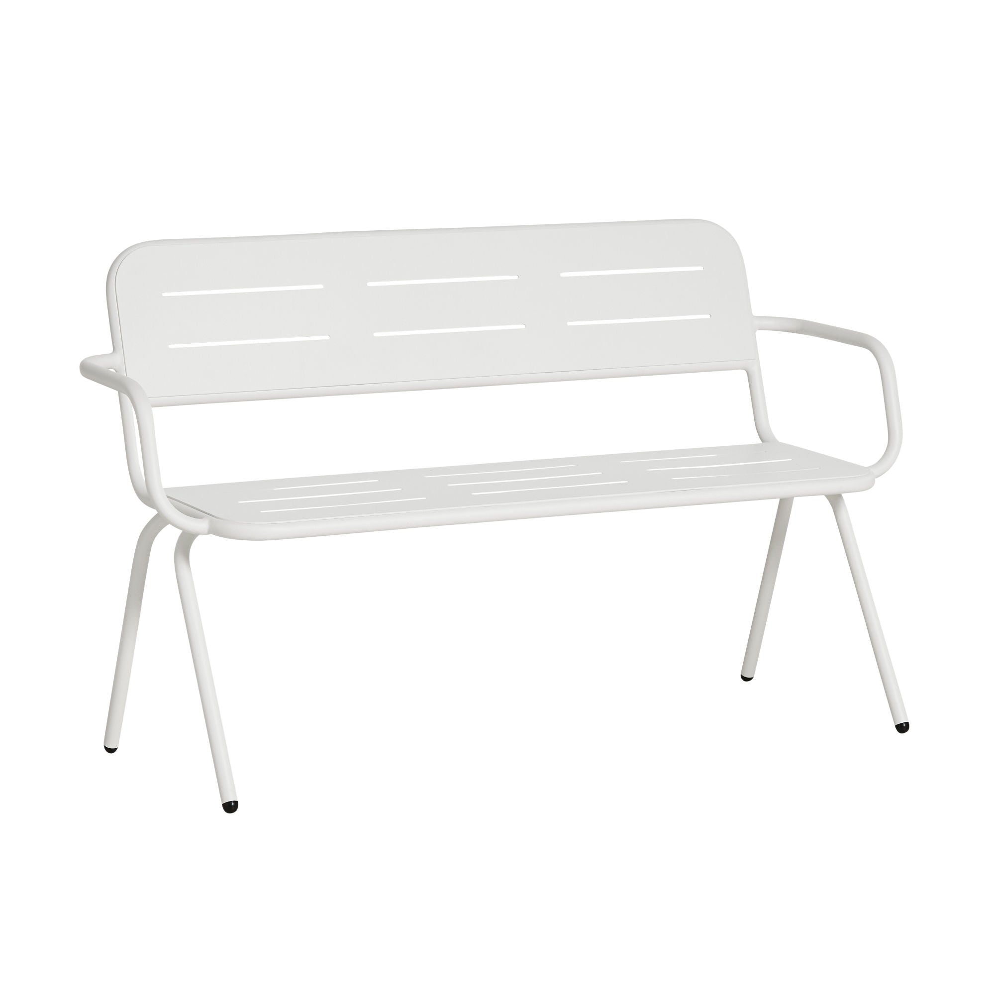 Woud Ray Bench w. Armrest , White
