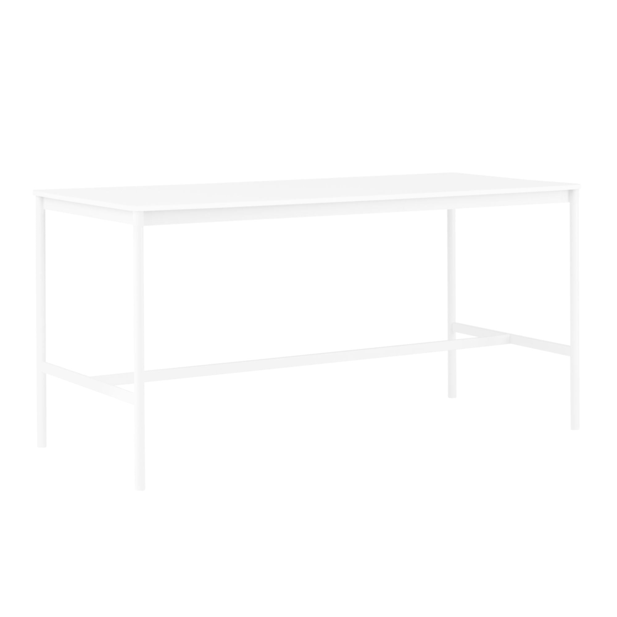Muuto Base High Table 190x85 h:95cm , White Laminate/White ABS/White