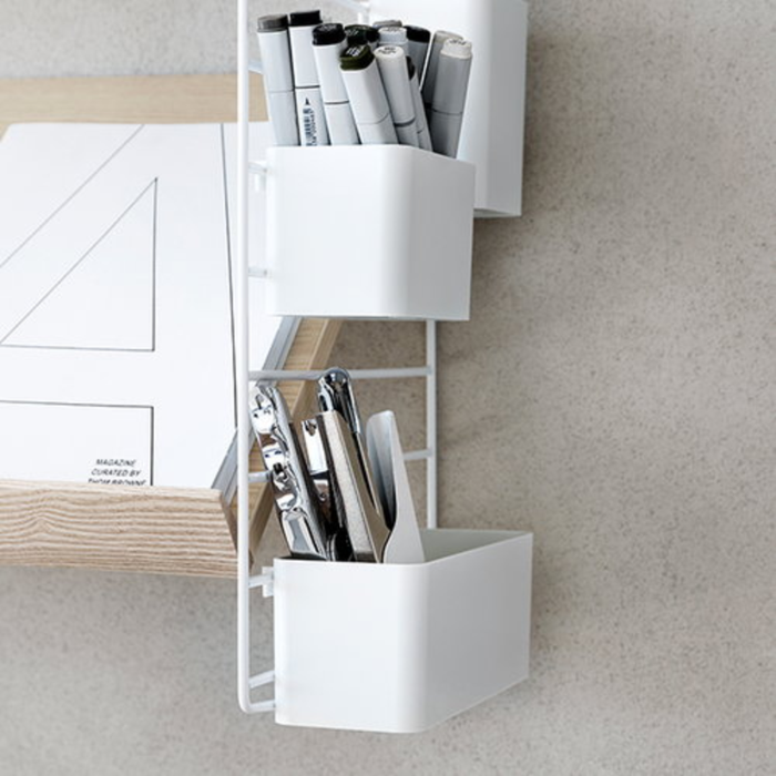 Organiser 3-pack . White