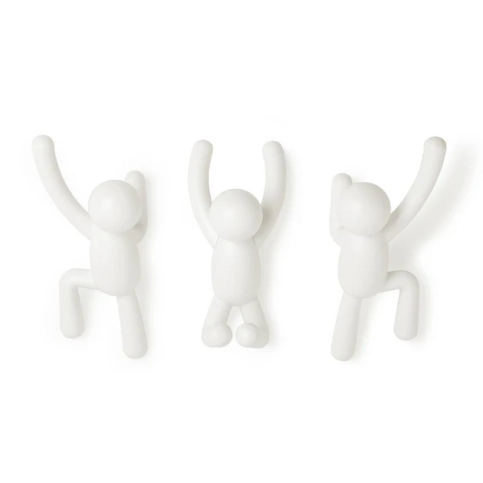Umbra Buddy wall hooks, white