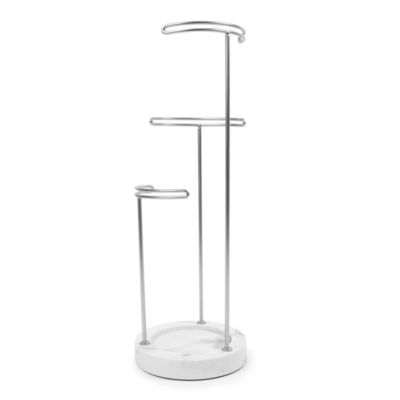 Umbra Tesora jewelry stand, white - metallic nickel