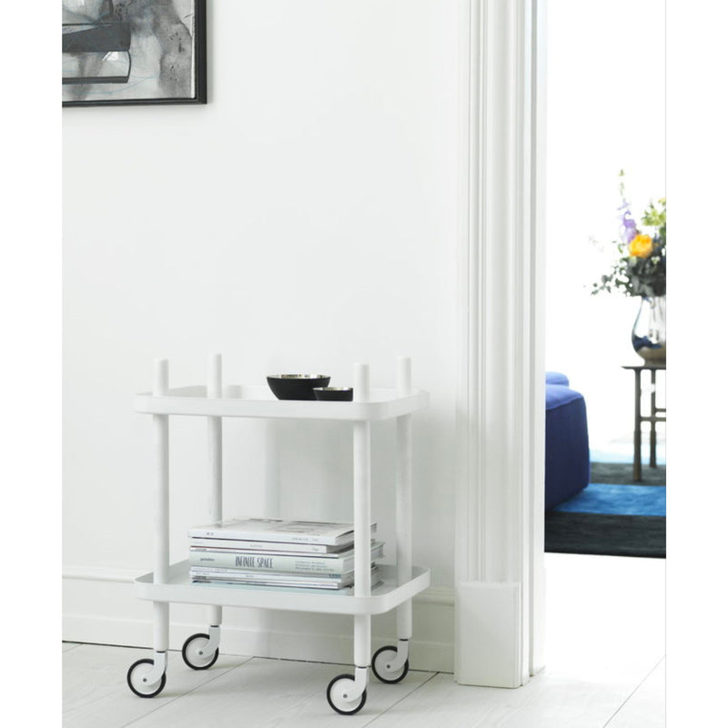Normann Copenhagen Block Table , White-White