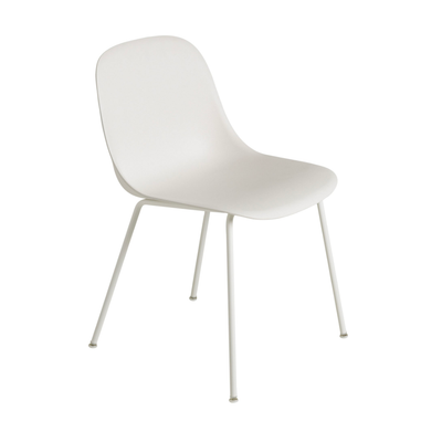 Muuto Tube Base Fiber Side Chair . White White
