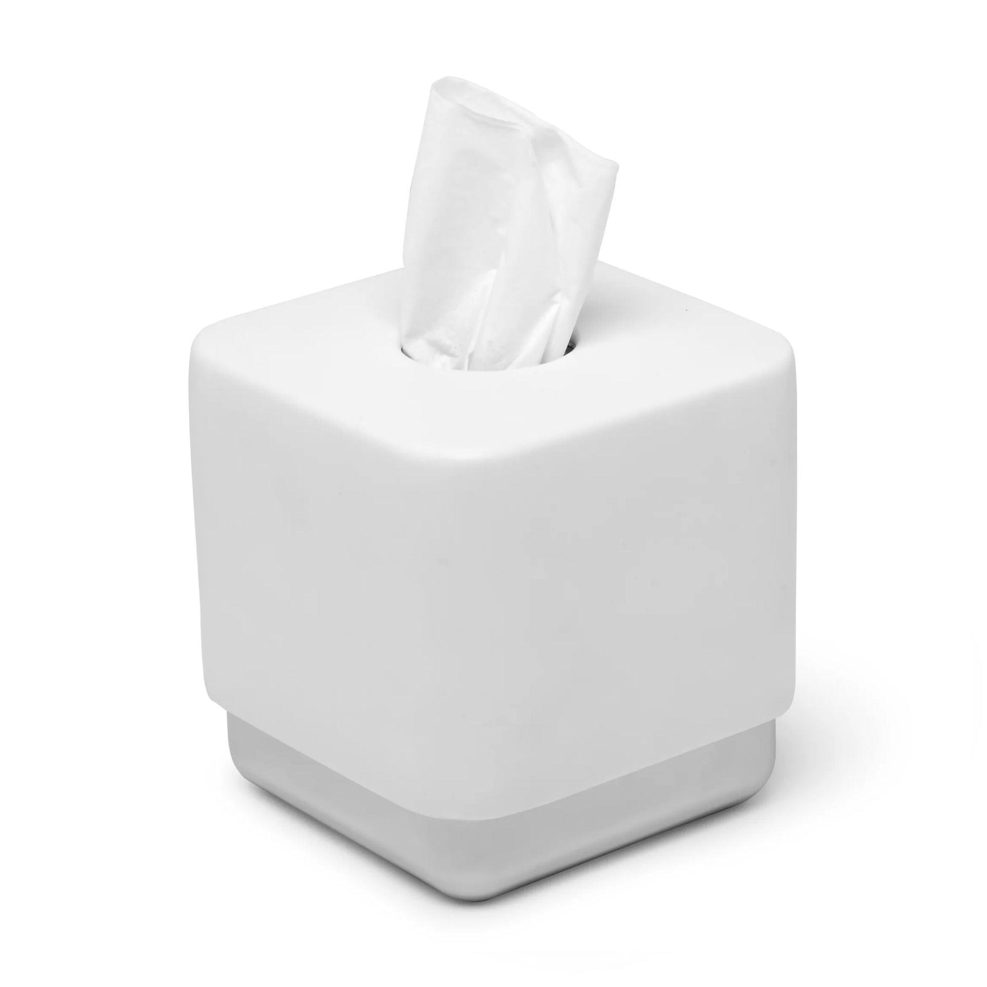 Umbra Junip tissue box holder, white