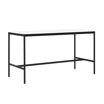 Muuto Base High Table 190x85 h:105cm , White Laminate/Plywood/Black