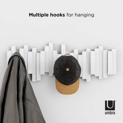 Umbra Sticks multi hook, white
