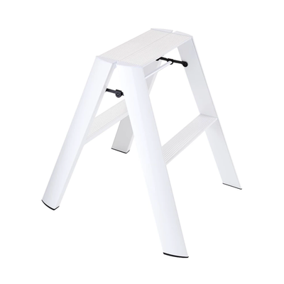 Metaphys Lucano Step Ladder 2 Step 50cm White