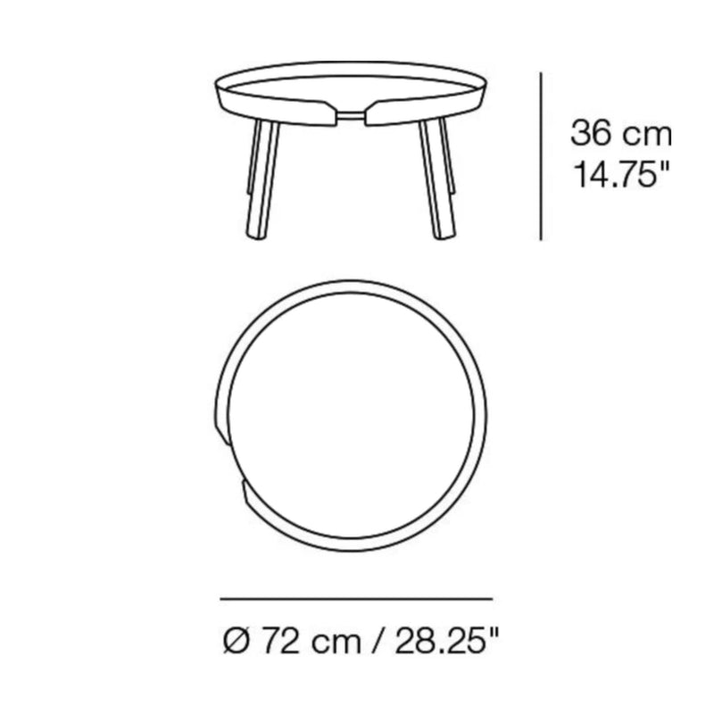 Muuto Around Coffee Table Large Ø72 , White