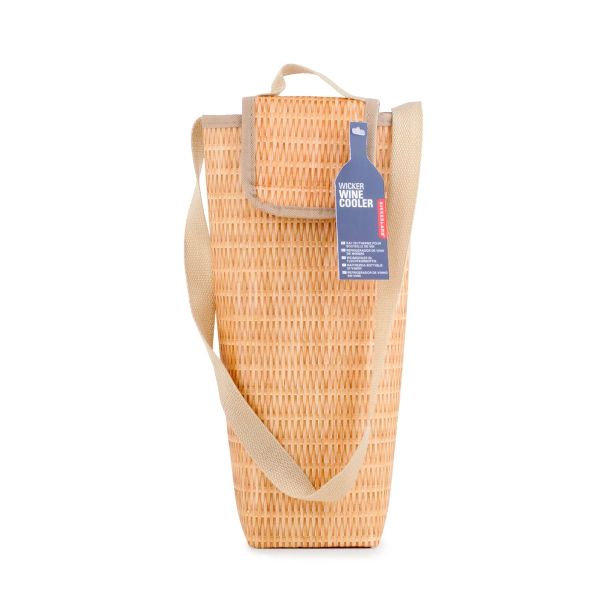 Kikkerland Wicker Wine Cooler
