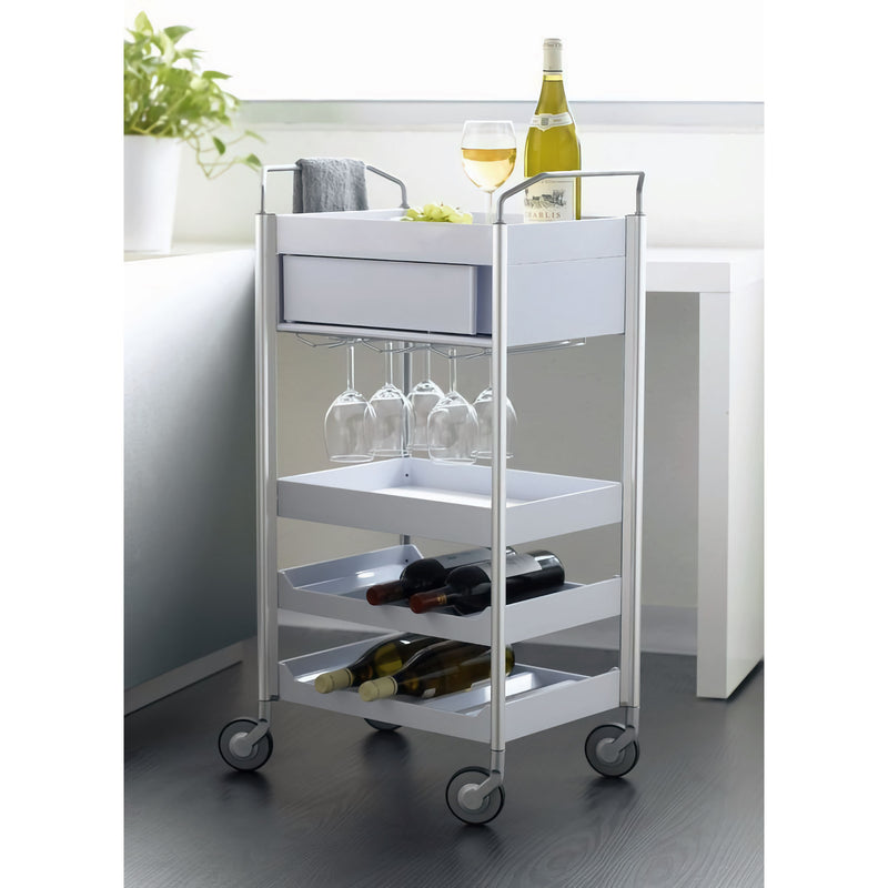 Studio Domo Ally Wine Trolley , White