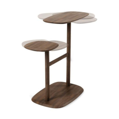 Umbra Swivo Side Table , Walnut