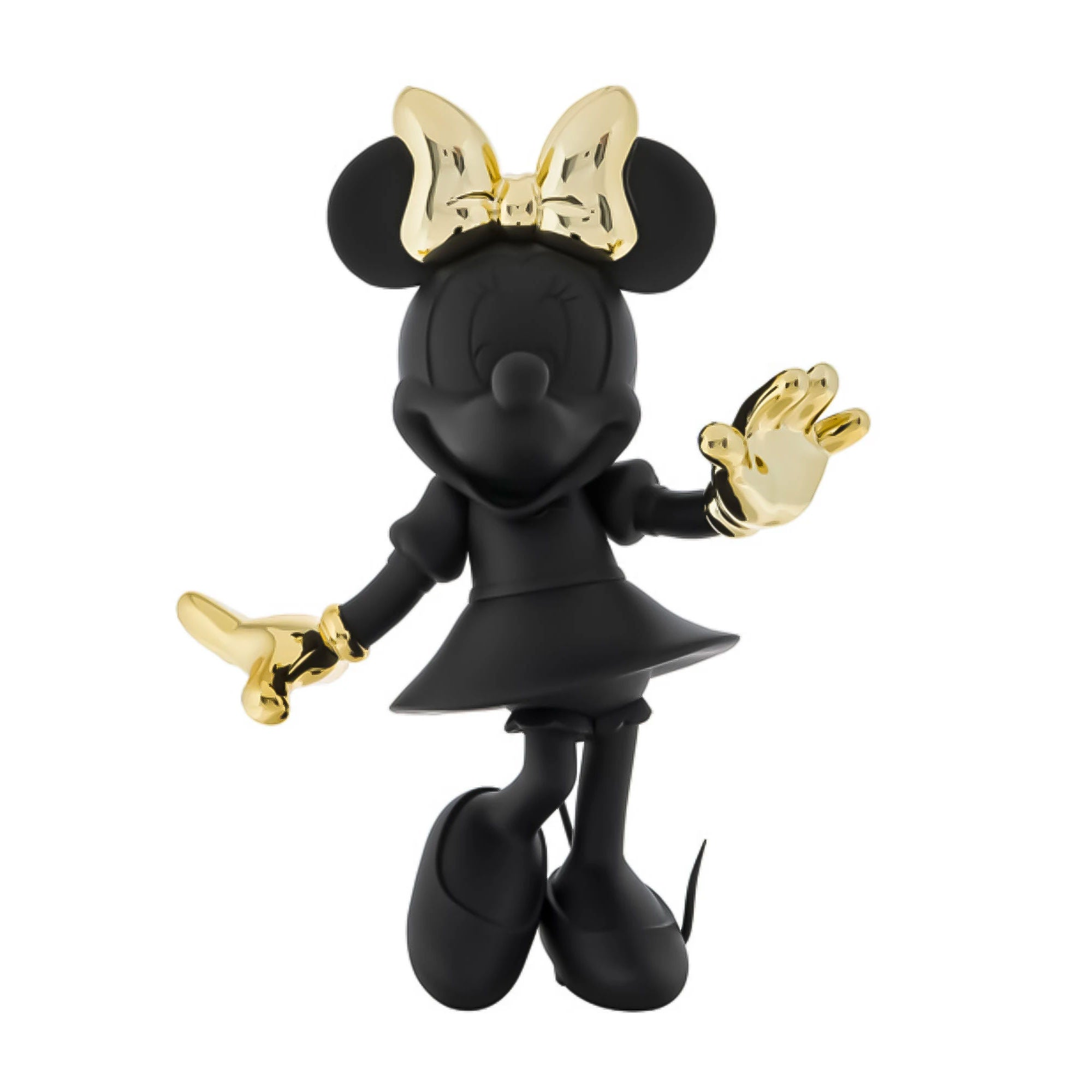 Minnie Welcome Bicolor 30cm , Black-Gold