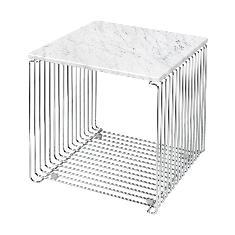 Montana Panton Wire modular side table, chrome - marble top