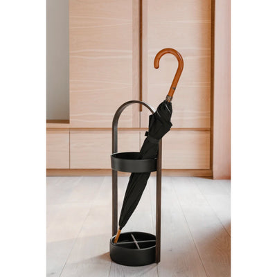 Umbra Hub umbrella stand, walnut