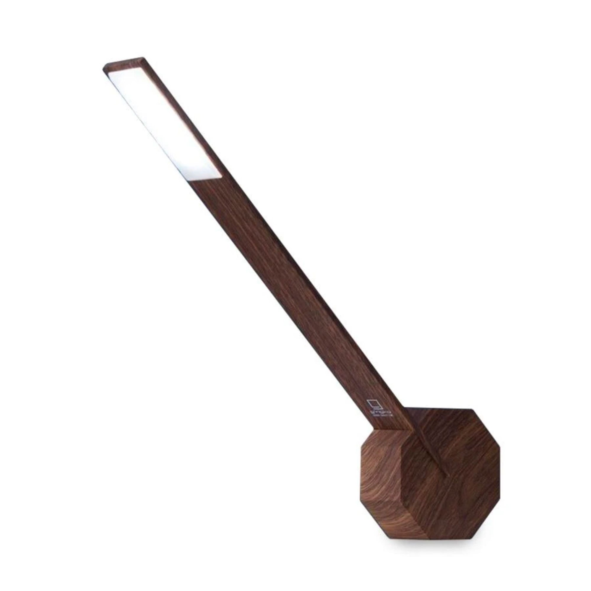 Gingko Octagon One desk lamp, walnut