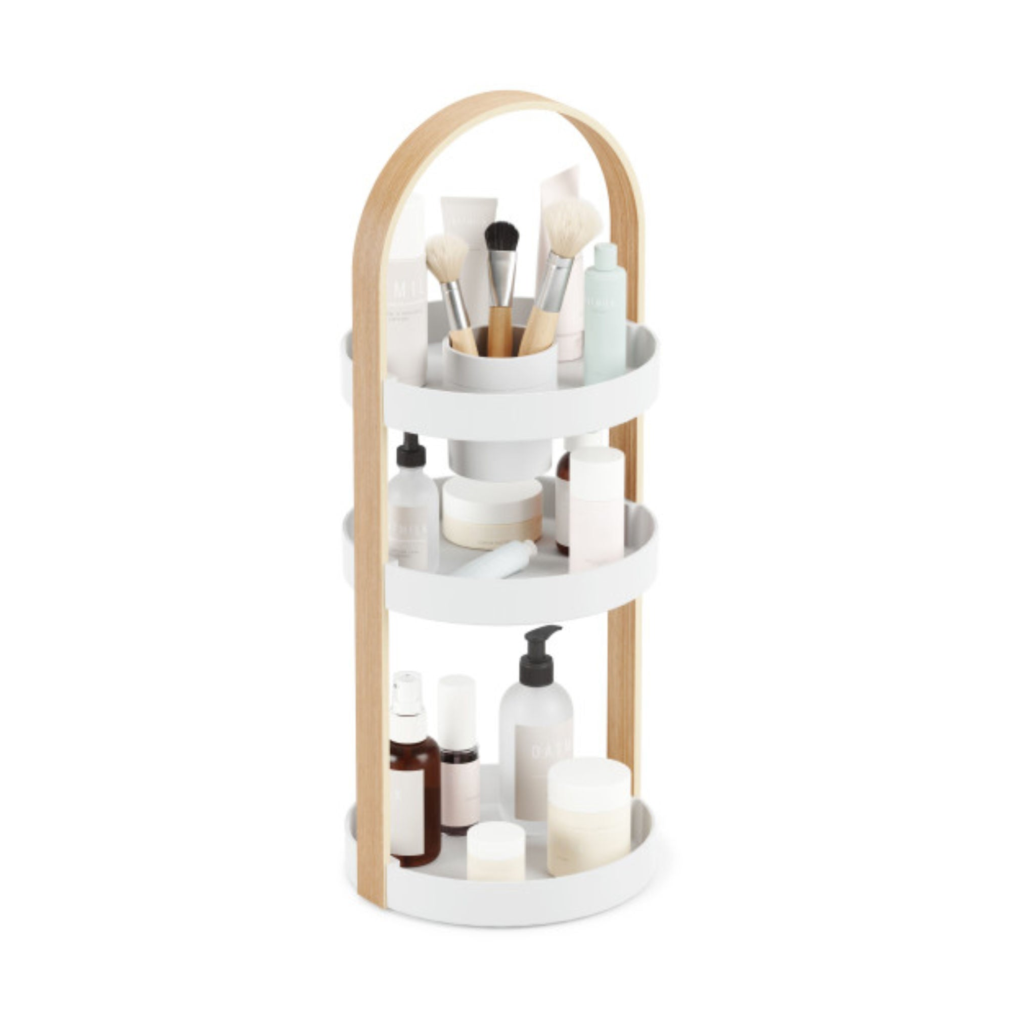 Umbra Bellwood Cosmetic Organizer , White/Natural