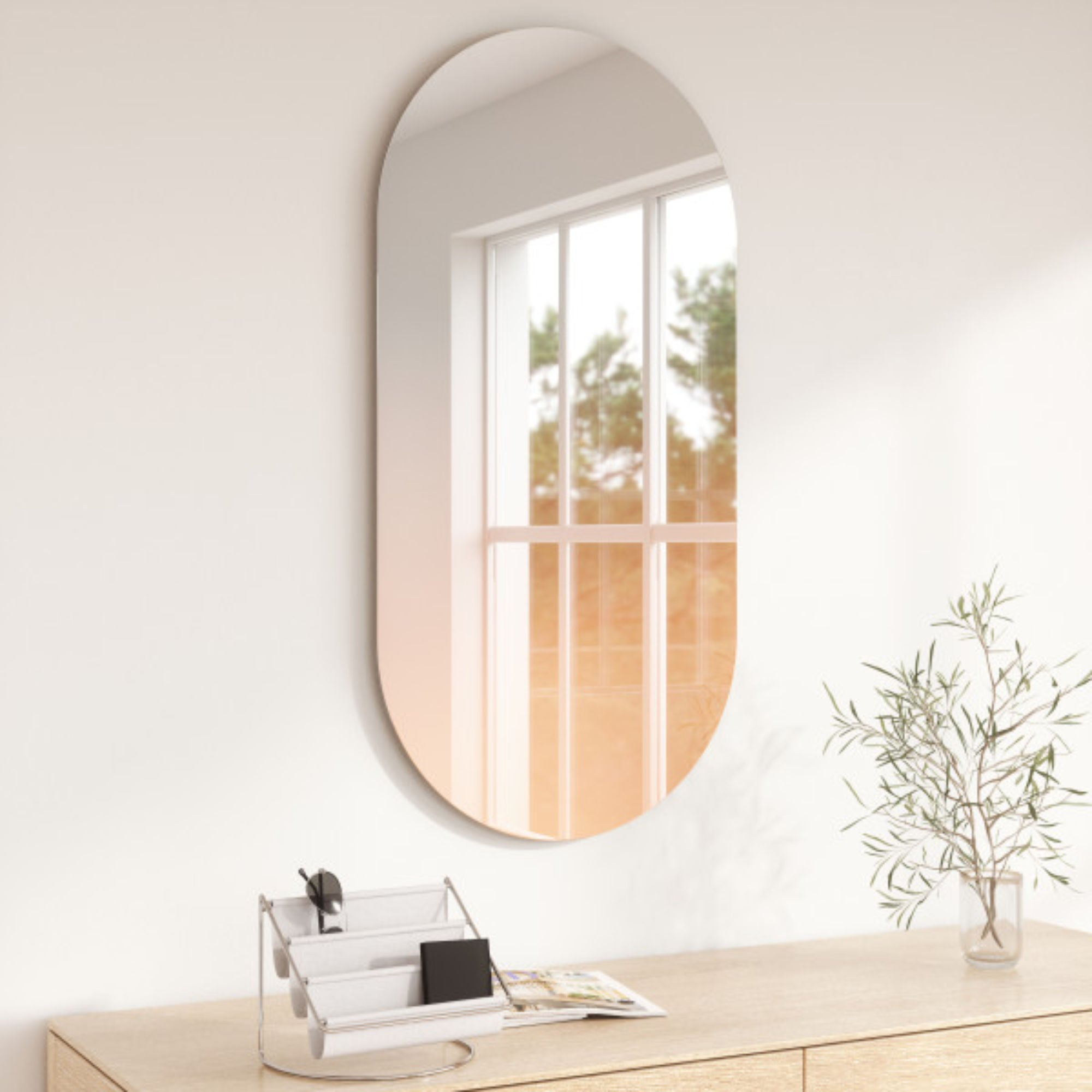 Umbra Misto Oval Mirror , Copper