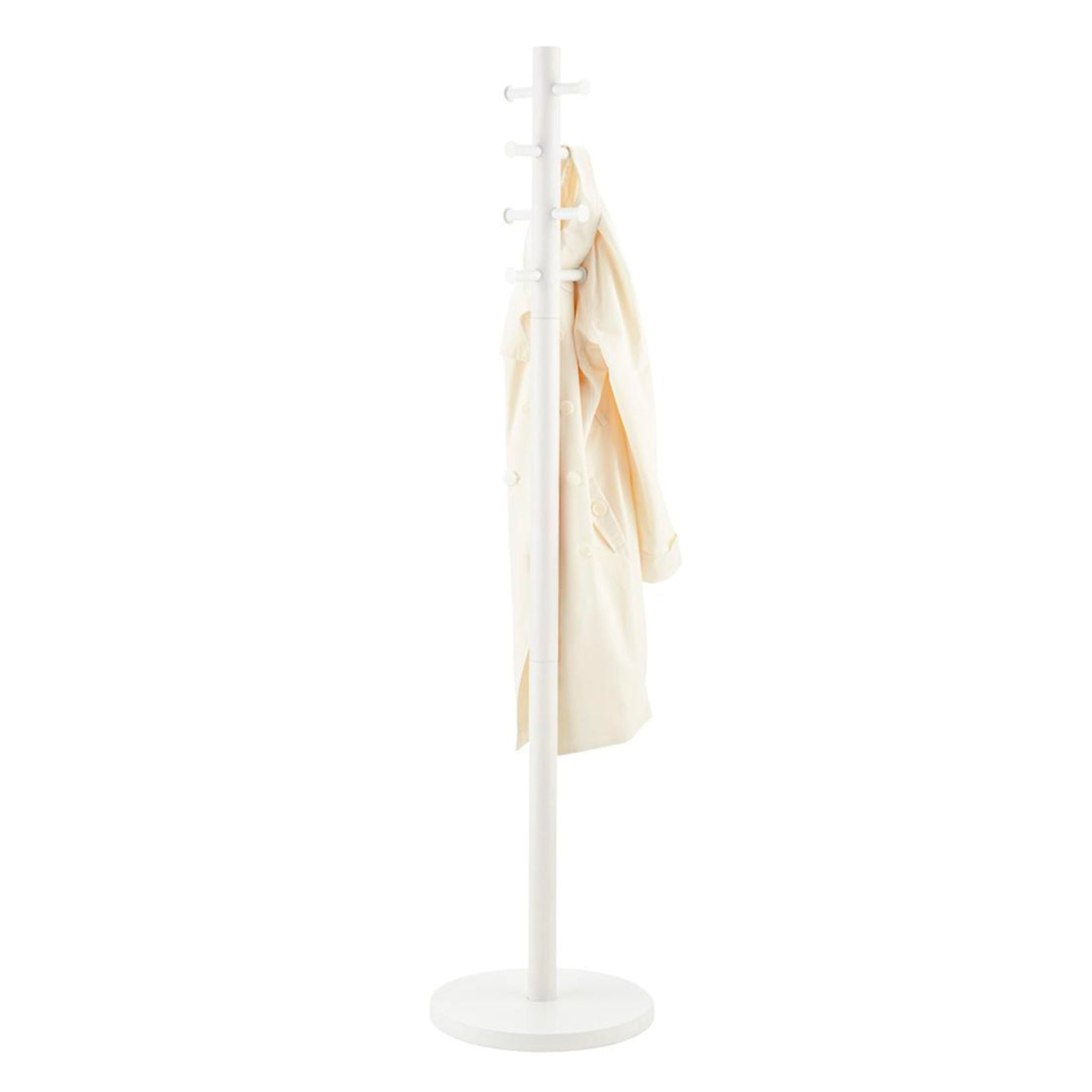 Umbra Pillar coat rack, white