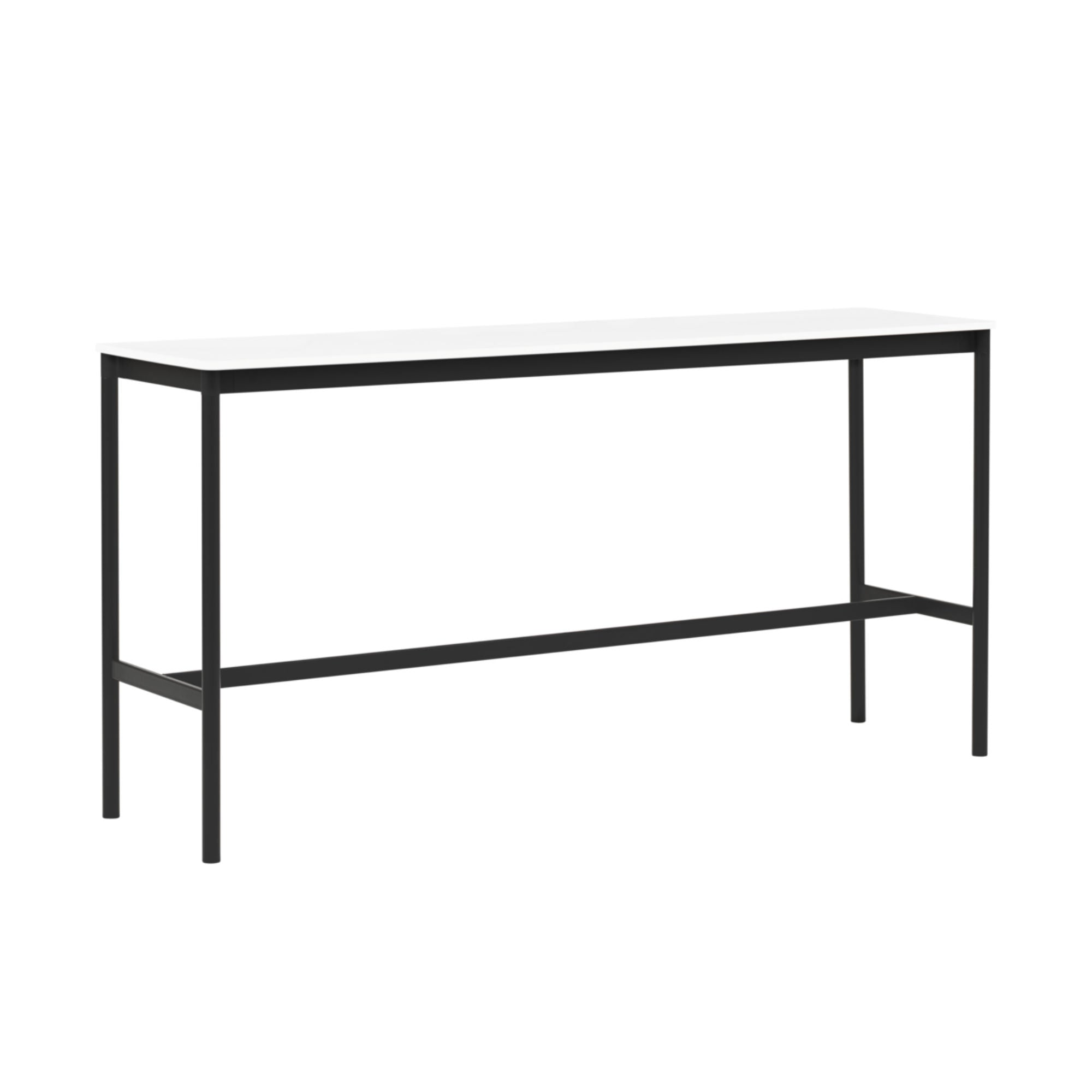 Muuto Base High Table 190x50 h:95cm , White Laminate/White ABS/ Black