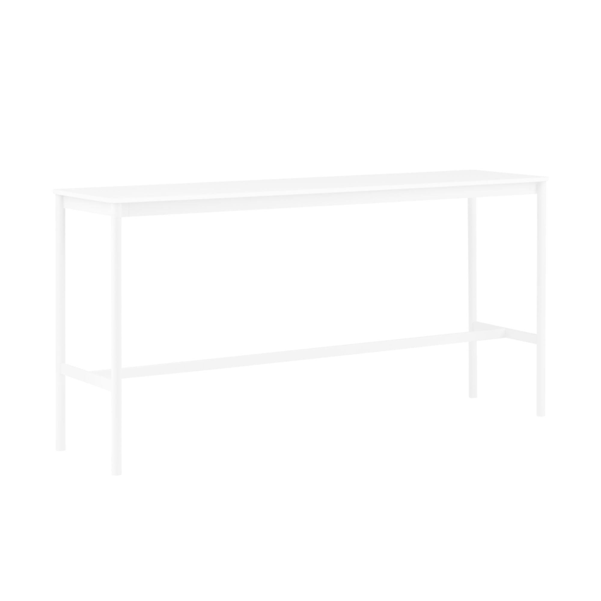 Muuto Base High Table 190x50 h:95cm , White Laminate/White ABS/ White