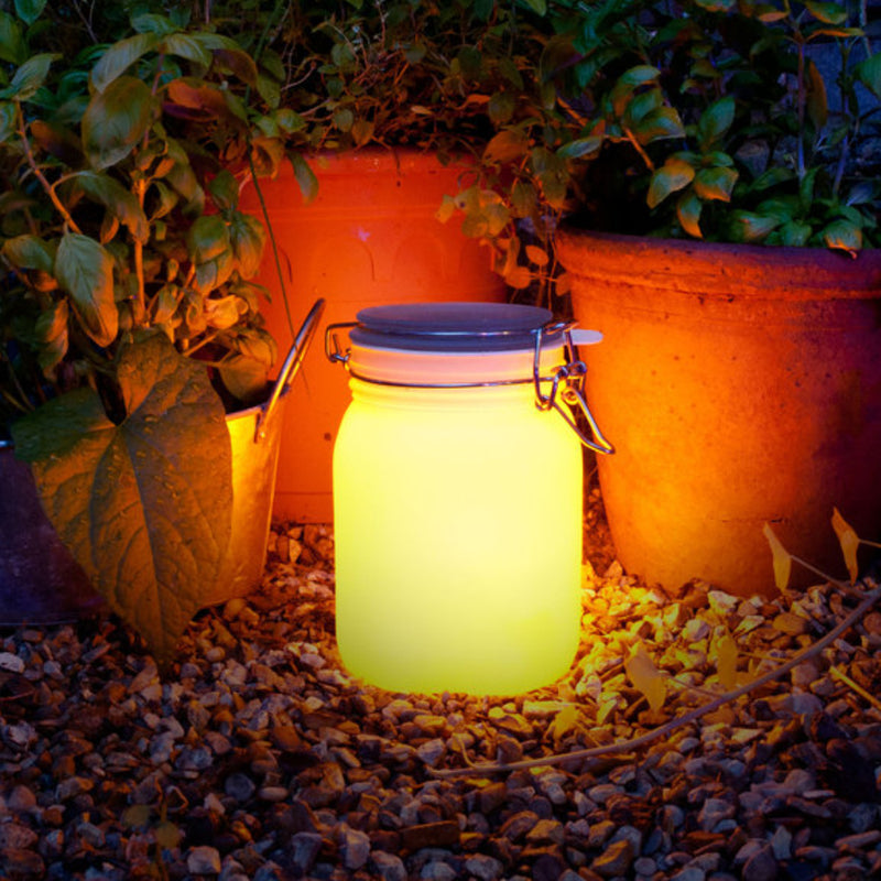 Suck UK Sun Jar solar nigh light, yellow