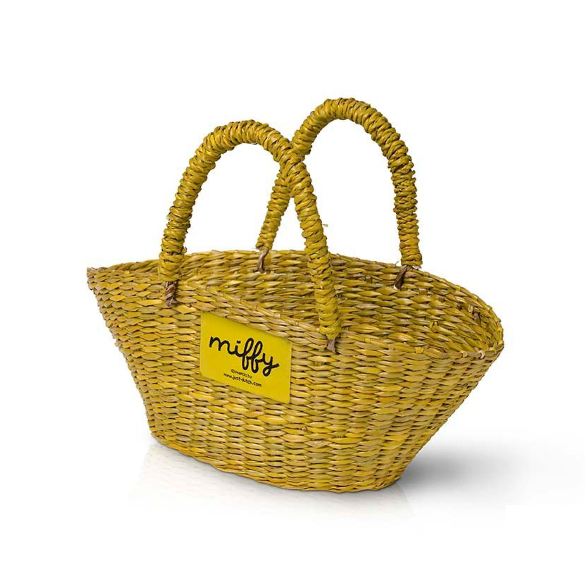 Just Dutch Handmade yellow basket for Miffy dolls