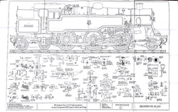 BR STD Class 4 Tank 80000: GA RH Side, injectors & Vacuum details Drawing