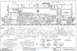 BR STD Class 4 Tank 80000: General Arrangement Drawing