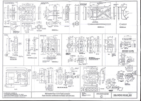 BR STD Class 4 Tank 80000: Frame Stretchers Drawing