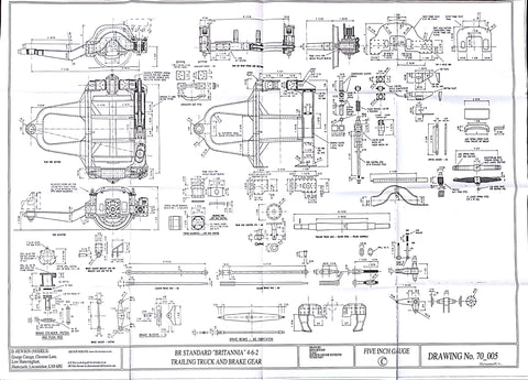 Britannia: Trailing Truck and Brake Gear Drawing