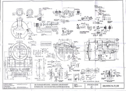 Britannia: Smokebox, Superheater, Vacuum Ejector and Buffer Beam details Drawing