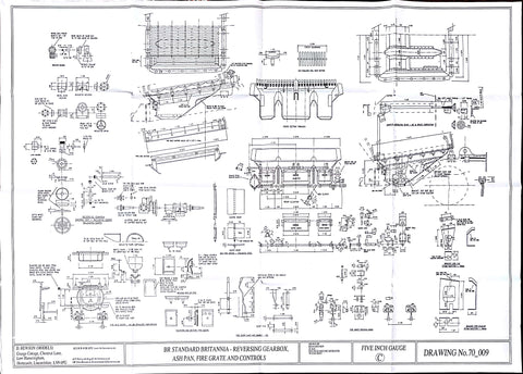 Britannia: Reversing Gearbox, Ash Pan, Fire Grate and Controls Drawing