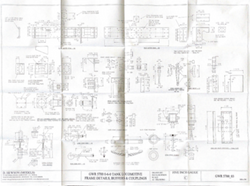 GWR 5700 Pannier Tank: Frame Details, Buffers and Couplings Drawing