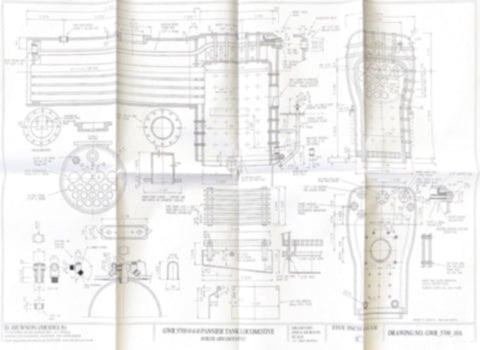 GWR 5700 Pannier tank: Boiler, Ash Pan and Top Feed Arrangement Drawing