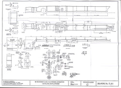 BR STD Class 4 Tender 75000: Cab Plates and Platforms Drawing