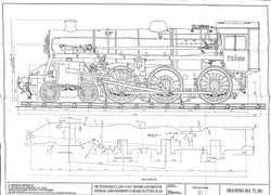 BR STD Class 4 Tender 75000: Complete Doug Hewson Drawing Set