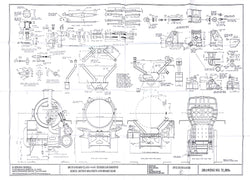 BR STD Class 4 Tender 75000: Horns, Motion Brackets, & Brake Gear Drawing