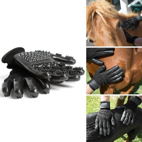 Outdoor Tools Pet Shedding Grooming Gloves -petshousehold