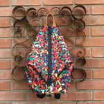 Knitters Carry All Backpack, knitting project bag backpack shown in Vibrant print