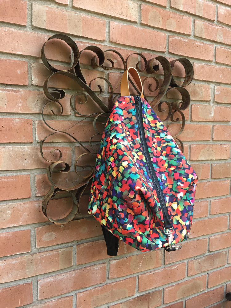 Black Friday Special! Limited Edition! Vibrant Print Knitters Carry All Backpack ~ rucksack project bag for knitters, crochet and crafters!