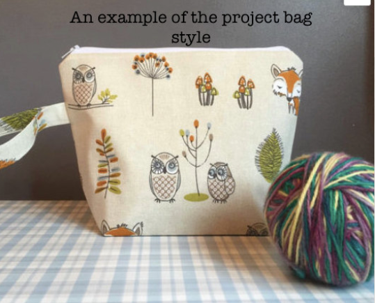 Traditional Christmas Kit ~ Knitting and Crochet Project Bag plus treats! Various Bag sizes