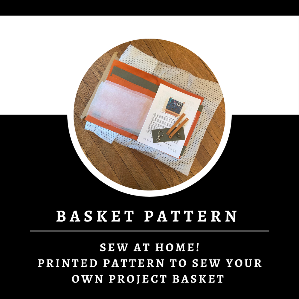Basket Sewing Pattern ~ Sewing pattern ~ Sew your own project bag/basket