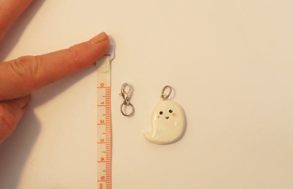 Miniature Clay Charm ~ Ghostie