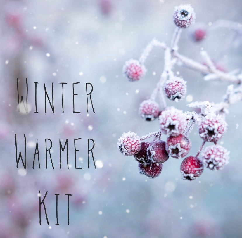 Winter Warmer Kit ~ Knitting and Crochet Project Bag plus treats! Various Bag sizes