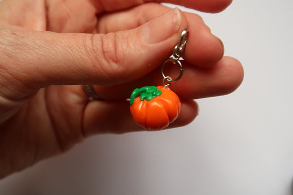 Miniature Clay Charm ~ Pumpkin