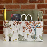 Green Canvas Basket Making Kit ~ Sewing pattern and Making Kit ~ Sew your own project bag/basket