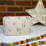 Notions Pouch ~ Robins ~ Knitting, Crochet and Yarn notions bag