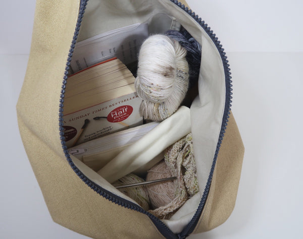 Knitters Carry All Backpack ~ rucksack project bag for knitters, crochet and crafters!