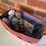 WINTER SALE / BLACK FRIDAY Basket ~ Christmas Kittens ~ Knitting and Crochet storage basket